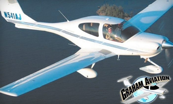 Graham Aviation - Salem OR: $89 for a One-Hour Scenic Flight ($183 Value) or $115 for Two-Hour Flying Lesson ($230 Value) at Graham Aviation