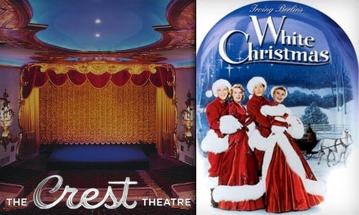 """Crest Theatre - Downtown: $9 for a Movie Ticket to """"White Christmas,"""" Plus Large Popcorn and Soda, at Crest Theatre (Up to $18.50 Value)"""
