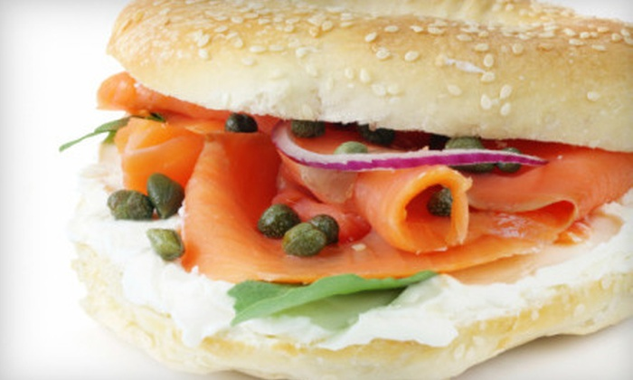 The Pittsburgh Bagel Factory - Multiple Locations: $8 for $16 Worth of Bagels, Sandwiches, and Schmears at The Pittsburgh Bagel Factory