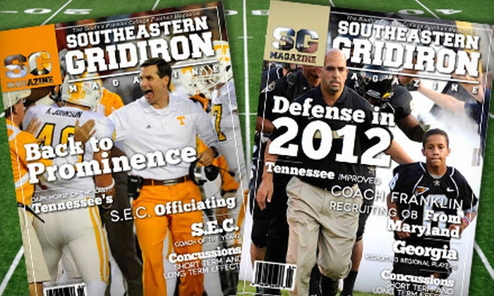 """Southeastern Gridiron Magazine - Southeastern Gridiron Magazine: One-Year Silver or Gold or Two-Year Gold Subscription to """"Southeastern Gridiron Magazine"""" (Up to 75% Off)"""