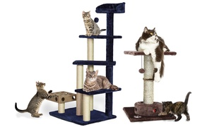 Tiger Tough Cat Tree Scratching Furniture with Toys