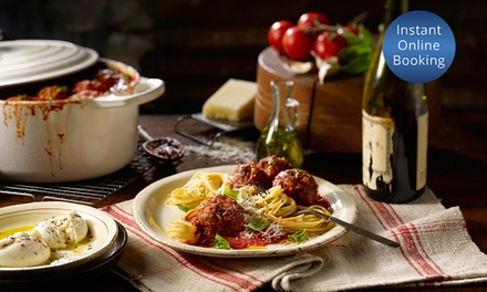 3Course Italian Dinner with Wine: Two $69, Four $135 or Six People $199 at Osteria Dei SaporiUp to $342 Value