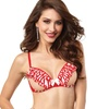 Dreamgirl Women's Candy Cane Striped Open Cup Bra (Size 38)
