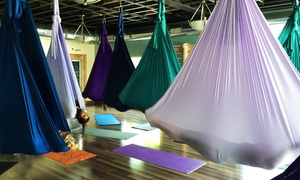Figure Yoga: 5 or 10 Unnata® Aerial Yoga Classes, or 1 Month of Unlimited Yoga Classes at Figure Yoga (Up to 64% Off)