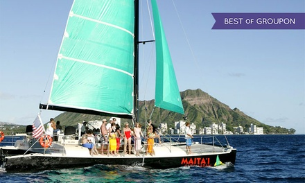 Catamaran TradeWind Sailing Trip for Two, Four, or Six from Maita`i Catamaran (Up to 51% Off)