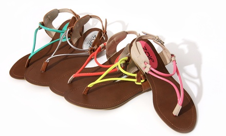 Unze Women's Flat Thong Sandals. Multiple Colors Available. Free Returns.