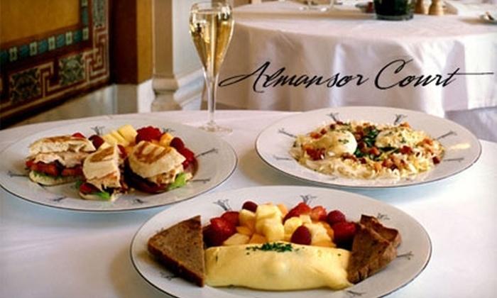 Almansor Court - Alhambra: $10 for Sunday Champagne Brunch at Almansor Court in Alhambra (Up to $20.95 Value)
