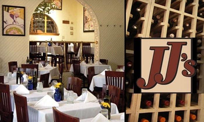 JJ's Restaurant - West Plaza: $25 for $50 Worth of Steaks, Seafood, Pasta, and Wine at JJ's Restaurant