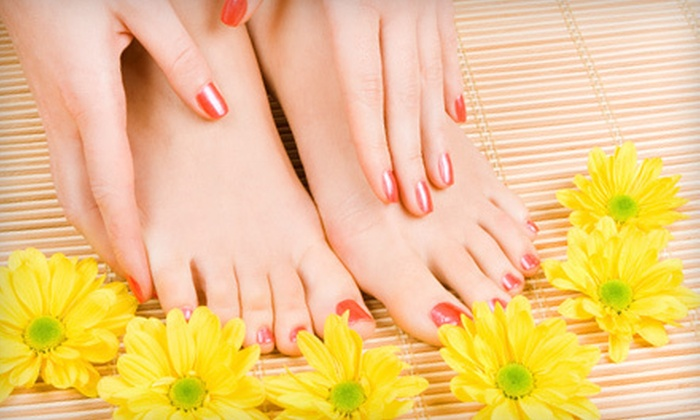 Bella Vita Salon and Day Spa - North Providence: One or Three Shellac Manicures and Basic Pedicures at Bella Vita Salon and Day Spa in North Providence (Up to 58% Off)
