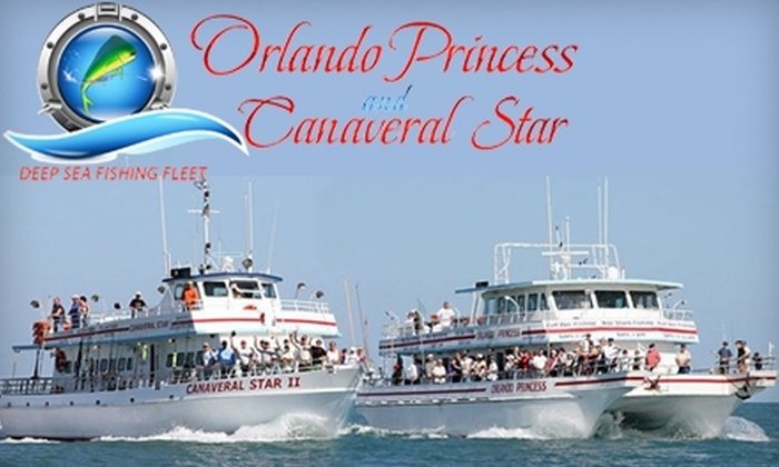 """Orlando Princess & Canaveral Star II - Cocoa Beach-Cape Canaveral: Deep-Sea and Shark Fishing Aboard the """"Orlando Princess"""" or """"Canaveral Star II"""" in Cape Canaveral. Choose from Multiple Options."""