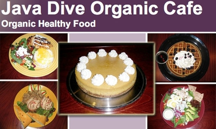 Java Dive Organic Cafe - Cardinal Hills Estates: $15 for $30 Worth of Organic Brews and Bites at Java Dive Organic Cafe