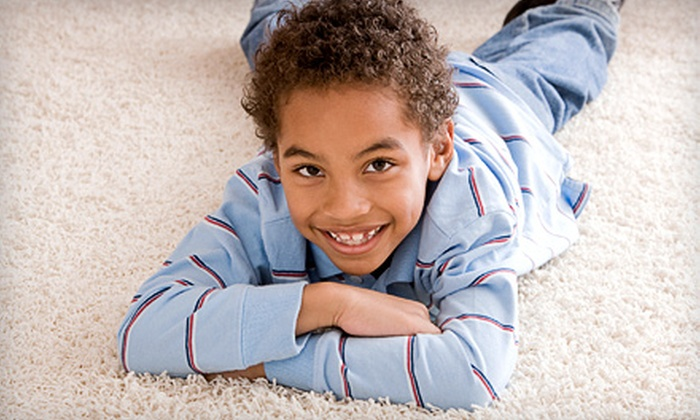 The Clean Machine - Multiple Locations: $89 for Four Rooms of Carpet Cleaning from The Clean Machine ($200 Value)