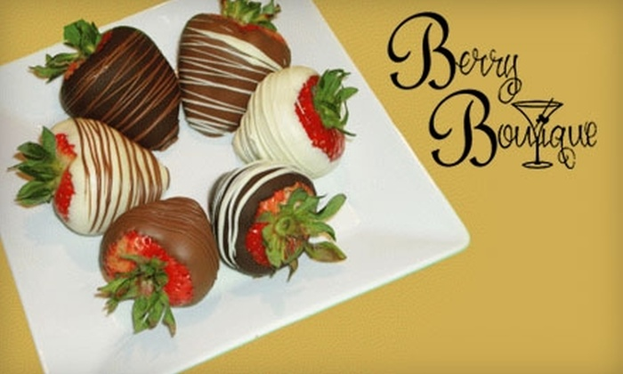Berry Boutique - Multiple Locations: $22 for a Box of 16 Hand-Dipped Chocolate Strawberries at Berry Boutique ($45 Value)