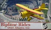 Biplane Atlanta - Chamblee-Doraville: $85 for a Biplane Flight Over Downtown Atlanta or Stone Mountain Park Plus Free Appetizer or Dessert at the 57th Fighter Group Restaurant