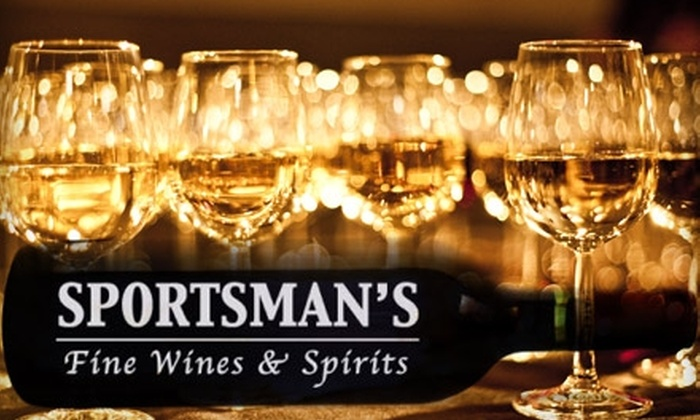 Sportsman's Fine Wine & Spirits - Multiple Locations: $25 for $50 Worth of Fine Wine, Beer, and Cuisine at Sportsman's WineBar