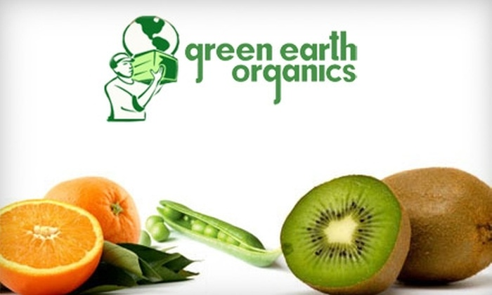 Green Earth Organics: $25 for $55 Worth of Delivered Organic Groceries from Green Earth Organics