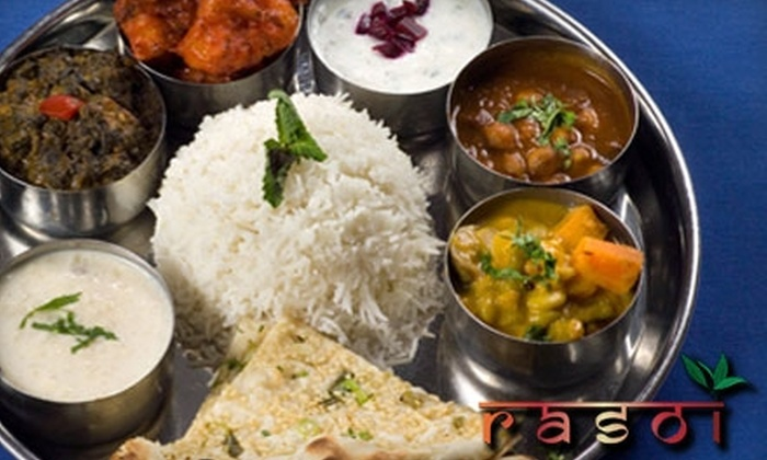 Rasoi Providence - Pawtucket: $10 for $20 Worth of Indian Fare at Rasoi in Pawtucket