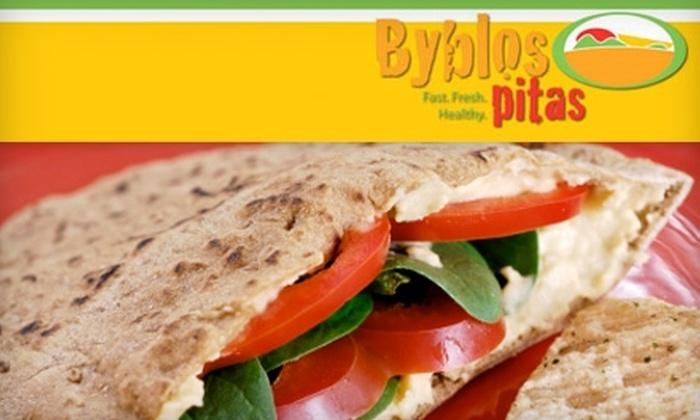 Byblos Pita - Tampa: $5 for $10 Worth of Fresh Mediterranean Fare at Byblos Pita