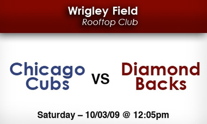 Wrigley Rooftop Baseball Club - Lakeview: Cubs Rooftop Tickets: All You Can Eat & Drink Included. Buy Here for Cubs vs Arizona on 10/3 at Wrigley Field Rooftop Club. More Games Below.