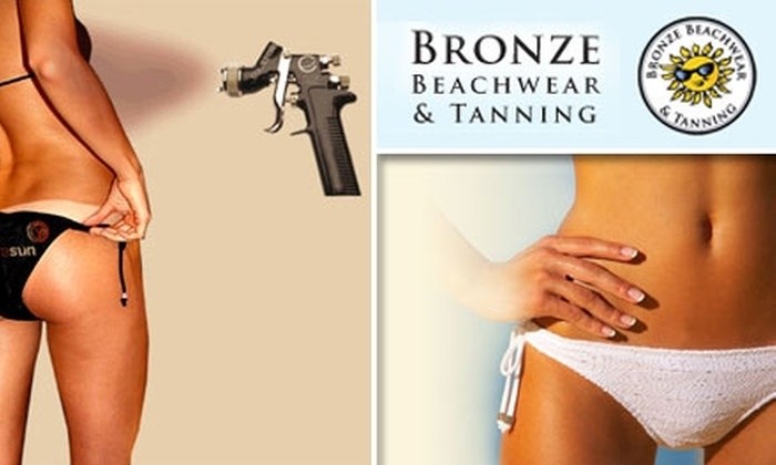 Bronze Beachwear and Tanning - San Jose: $39 for Three Sunless Spray Tans at Bronze Beachwear and Tanning ($100 Value)