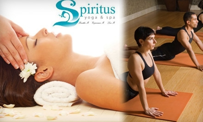 Spiritus Yoga & Spa - Downtown Riverside: $110 for a Spa and Fitness Package at Spiritus Yoga & Spa (Up to $350 Value)