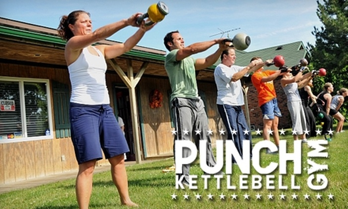 Punch Gym - Multiple Locations: $98 for Four Weeks of Boot Camp Sessions at Punch Gym (Up to $197 Value)