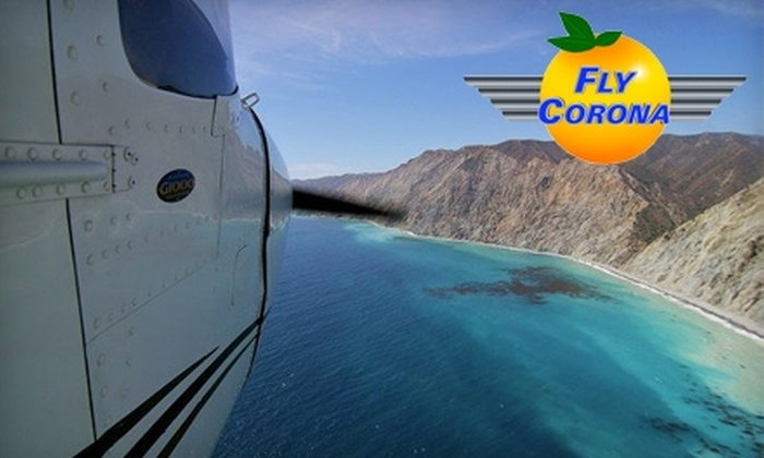 Fly Corona! - Corona: Demo Flight Lesson for Up to Two People from Fly Corona! Choose Between Two Options.