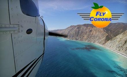 Fly Corona!: 90-Minute Santa Catalina Demo Flight for Up to 2 People - Fly Corona! in Corona