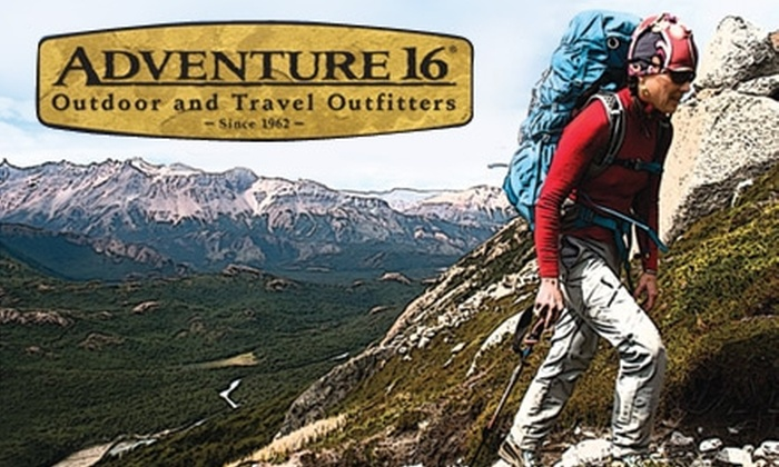 Adventure 16 - Multiple Locations: $40 for $80 Toward Outdoor Gear at Adventure 16