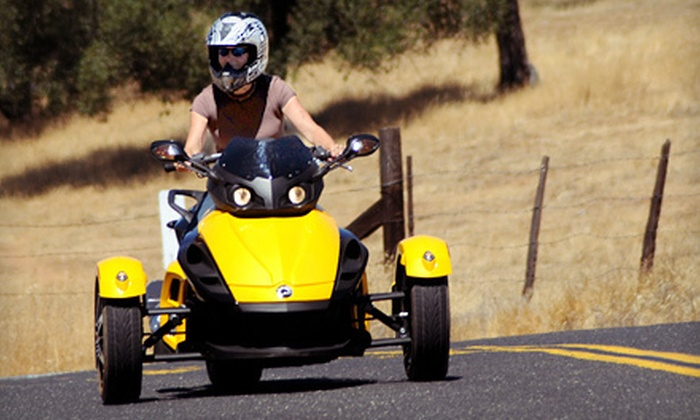 Motherlode Motorsports - Angels: One-Hour Spyder Motorcycle Ride for One or Two from Motherlode Motorsports in Angels Camp (Up to 54% Off)