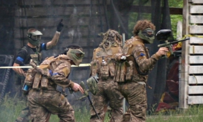 Apocalypse Paintball - Angola: $15 for All-Day Open Play Admission, Equipment Rental, and All-Day Air at Apocalypse Paintball in Angola (Up to $32 Value)