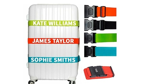 One or Two Personalised Combination Luggage Straps from Personalised Gift Market