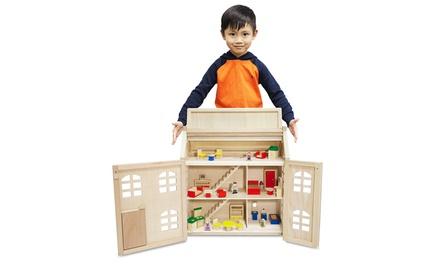 Toytopia Puppenhaus aus Holz mit Ausstattung (Frankfurt)