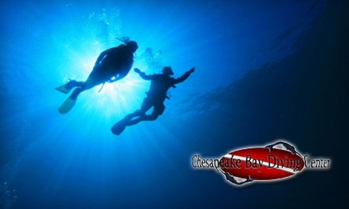 Chesapeake Bay Diving Center - Portsmouth: $25 for an Introductory Scuba-Diving Lesson at Chesapeake Bay Diving Center ($65 Value)