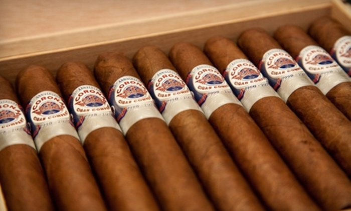 Corona Cigar Company - Sanford: $10 for $20 Worth of Rum, Whiskey, Wine, Cocktails and More at Corona Cigar Company. Valid at Three Locations.