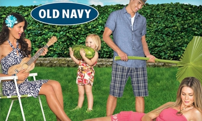 Old Navy - Cedar Rapids / Iowa City: $10 for $20 Worth of Graphic Tees, Dresses, and Summer Apparel at Old Navy