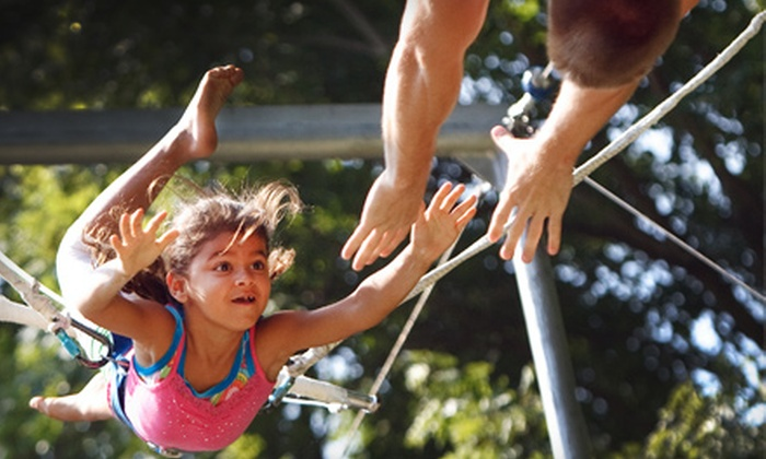 Tito Gaona's Flying Trapeze Academy & Flying Fantasy Circus - Multiple Locations: $40 for Semiprivate Trapeze Class at Tito Gaona's Flying Trapeze Academy & Flying Fantasy Circus ($80 Value)