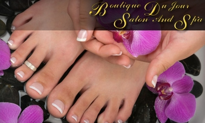 Boutique Du Jour Salon and Spa - Bay Area: $30 for a Spa Paraffin Mani-Pedi at Boutique Du Jour Salon and Spa ($72 Value)