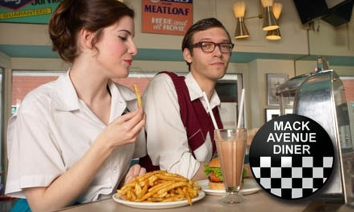 Mack Avenue Diner - Grosse Pointe: $7 for $15 Worth of Burgers, Wraps, and Melts at Mack Avenue Diner in Grosse Pointe Woods