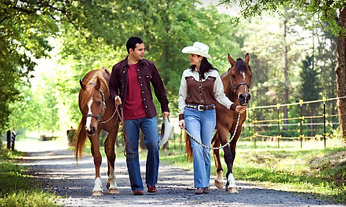 Green Acres Ranch - Temecula: $139 for a Guided Horseback Trail Ride and Wine Tastings for Two at Green Acres Ranch in Temecula ($300 Value)