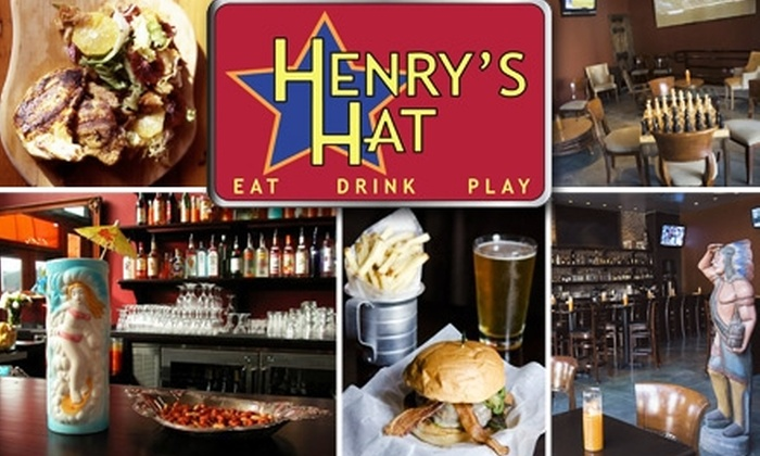 Henry's Hat - Hollywood Hills: $15 for $35 Worth of Food and Drink at Henry's Hat