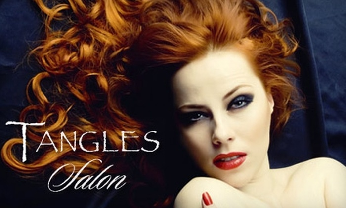 """Tangles Salon - Old Pasadena: $40 for a L'Oreal Powershot Conditioning Treatment and New York """"Blow-Dry"""" (Up to $90 Value) or $35 for a Men's Haircut and Scalp Treatment (Up to $80 Value) at Tangles Salon"""