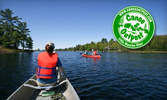 Canoe Outpost - Ruskin: Trip Down the Little Manatee River from Canoe Outpost. Choose from Two Options.