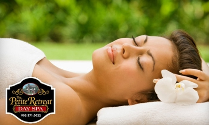 The Petite Retreat Day Spa - Niagara Falls: $45 for a Swedish Massage and Mini Facial at The Petite Retreat Day Spa