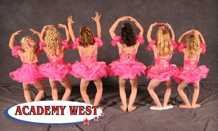 Academy West - West Jordan: $22 for Registration and One Month of Gymnastics, Dance, Tumbling, or Cheer Class at Academy West in West Jordan ($85 Value)
