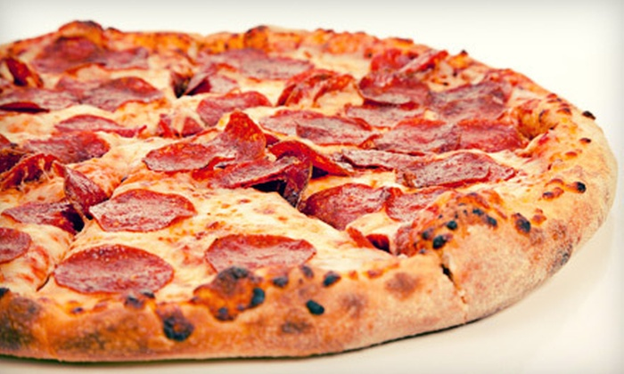 Riya's Pizza - Vancouver: One Large Pizza with Two Beverages or $20 for $40 Worth of Pizzeria Fare at Riya's Pizza