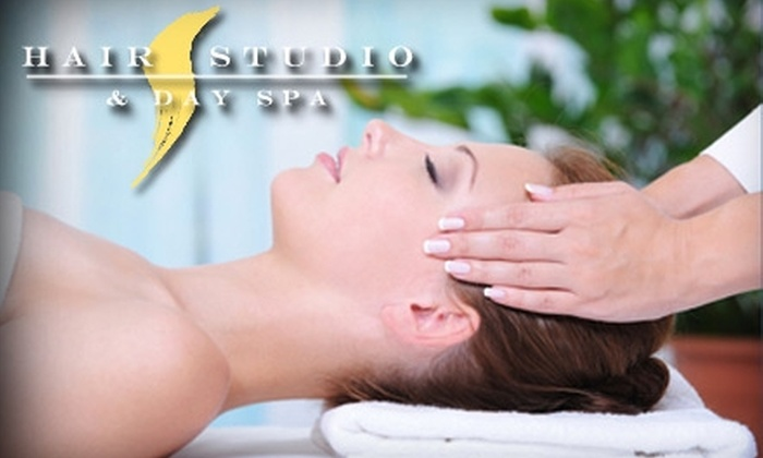Hair Studio & Day Spa - Sunset Hills: $35 for the Express Facial and Pedicure at Hair Studio & Day Spa (Up to $75 Value)