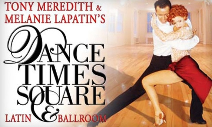 Dance Times Square - New York City: $99 for a Couples Dance Lesson Package at Dance Times Square