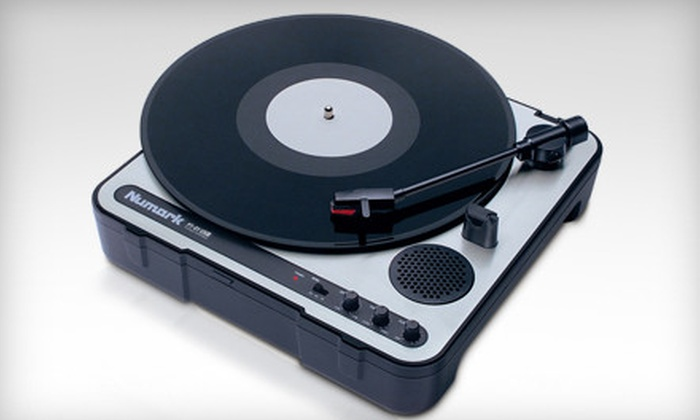 Portable USB Turntable: $69 for a Numark PT01 USB Portable DJ Turntable from Hollywood DJ ($150 Value). Ships in 7 to 10 Business Days After Redemption. May Not Arrive by 12/24.
