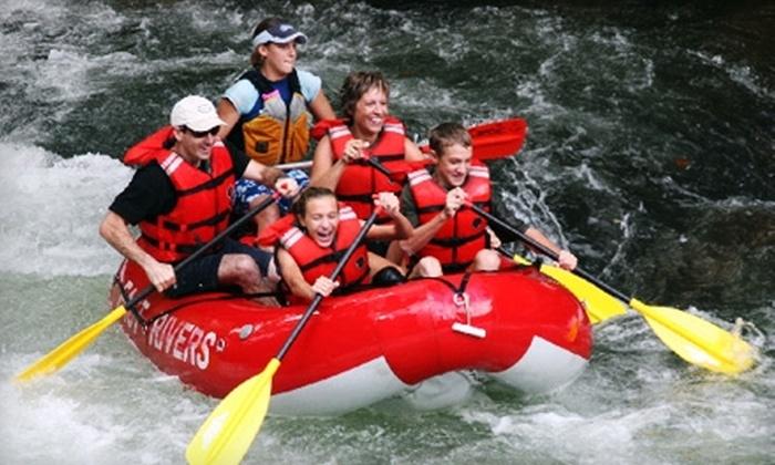 Adventurous Fast Rivers Rafting - Bryson City: $10 for a Self-Guided Rafting Trip from Adventurous Fast Rivers Rafting in Bryson City (Up to $22 Value)